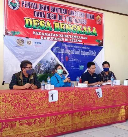 Udayana Community Development Program (UCDP) bekerjasama dengan IEEE Humanitarian Activities Committ