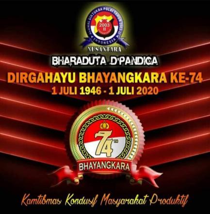 DIRGAHAYU BHAYANGKARA KE-74