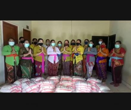Terimakasih kami sampaikan atas bantuan berupa paket Beras yang diberikan oleh TP PKK Provinsi Bali