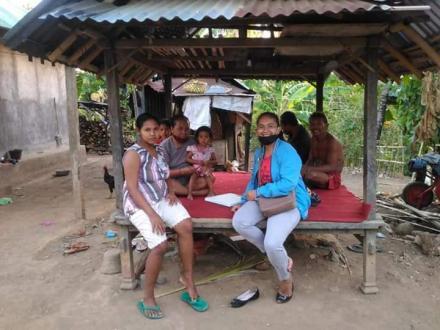 Kunjungan Rumah oleh Bidan Desa  Bengkala untuk memantau langsung perkembangan Balita