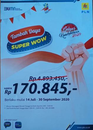 PROMO TAMBAH DAYA SUPER WOW