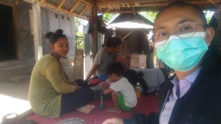 kunjungan rumah ke wilayah Banjar Dinas Kelodan oleh Bidan Desa