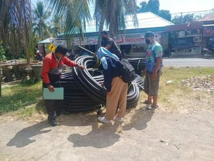 Pengecekan/verifikasi barang oleh Tim Pamsimas Kabupaten Buleleng