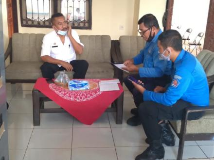 kunjungan Dinas Pemadam Kebakaran Kabupaten Buleleng di Kantor Perbekel Bengkala