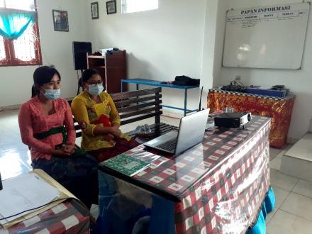 Vidio Conference Rapat Akbar Dana Desa Tahun 2021 Lingkup Kabupaten Buleleng