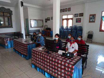 Kader Posyandu dan Pkk Desa Bengkala ikuti seminar Modernisasi Posyandu