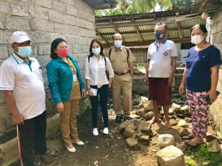 Monev pelaksanaan PKTD STBM Plus oleh Dinas Kesehatan Kabupaten Buleleng di Desa Bengkala