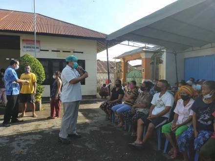 Vaksinasi Astrazeneca Tahap pertama Gelombang Ke-4 untuk masyarakat Desa Bengkala