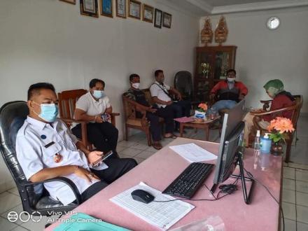 Vidio Conference Program Hibah Insentif Desa Menuju Air Minum Aman
