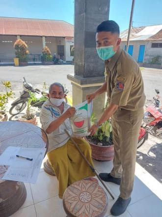 Bantuan 5kg beras dari Kementrian Sosial Republik Indonesia