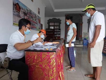 Penyaluran BST Bulan Juli di Desa Bengkala